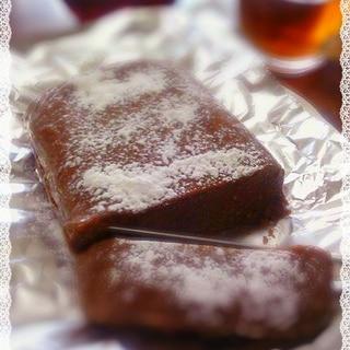 レンジでテリーヌのようなとろける豆腐ショコラケーキ