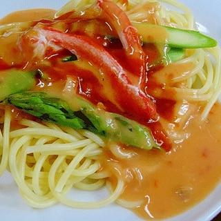 チョイ足し! 「海鮮トマトクリームパスタ」
