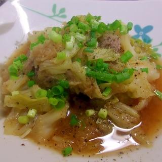 牛肉とキャベツの大根おろし煮