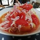 トマトとハムの冷製パスタ