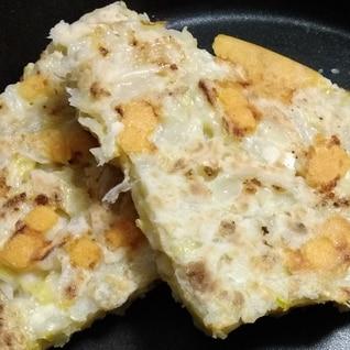白菜チーズのお好み焼き