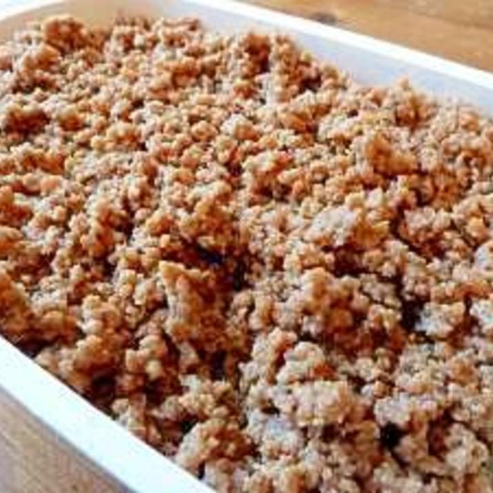 簡単☆生姜香る万能基本の甘辛「鶏そぼろ」