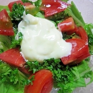 塩麹マヨネーズで生野菜サラダ