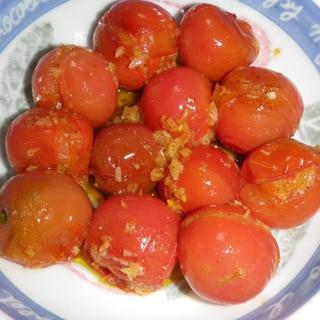 簡単で美味しい! ミニトマトのガーリックオイル焼き