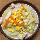うどんスープで作る簡単具沢山チャンポン