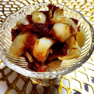 ユリ根を美味しく簡単におかかと梅肉和え