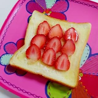 おやつトースト☆いちごシュガーバタートースト