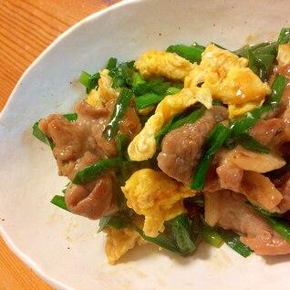 豚ニラのオイスターソース炒め卵入り