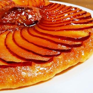 フライパンでふわっふわのリンゴケーキ♪