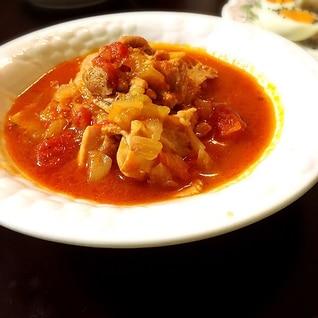 鶏肉とベーコンのトマト煮