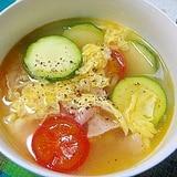 酸っぱうまい!ズッキーニの酸辣湯スープ