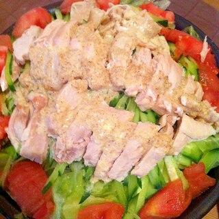 バンバンジー風サラダ
