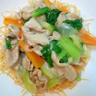 簡単★生姜が香る★豚肉とたっぷり野菜の皿うどん