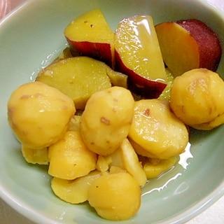 おやつ・箸休めに☆さつま芋と栗の蜂蜜煮★