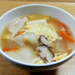 中華スープで水餃子‼