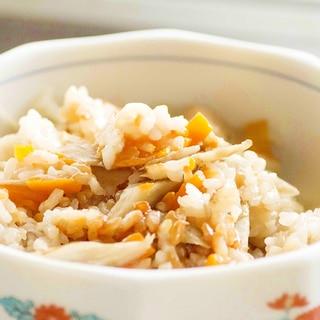 鶏胸肉 de 鶏ごぼう炊き込みご飯