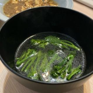 ブロッコリーと韓国海苔のスープ
