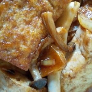 ごはんが進む☆厚揚げのガーリックステーキ