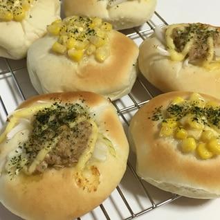 コーン&ツナ2種手ごねパン