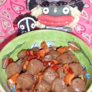 コンニャクの豆豉煮