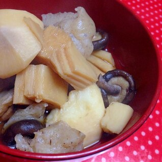 簡単☆たけのこと里芋の甘辛煮