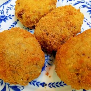 椎茸入りの里芋コロッケ