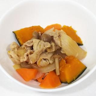豚肉とかぼちゃ人参玉ねぎの煮物