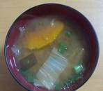 白菜とかぼちゃの味噌汁