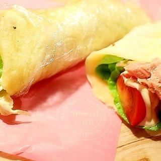 朝食に嬉しいサラダクレープ ツナマヨ味