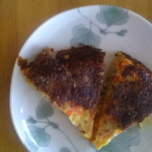 バターナッツかぼちゃと挽き肉の卵焼き
