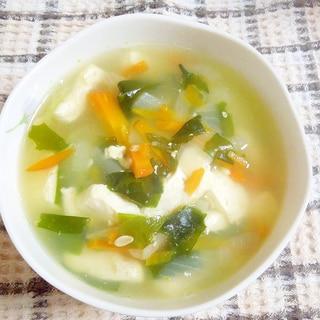 ゆず豆腐の塩スープ