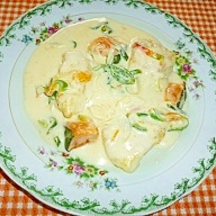 鱈のムニエルクリーム煮