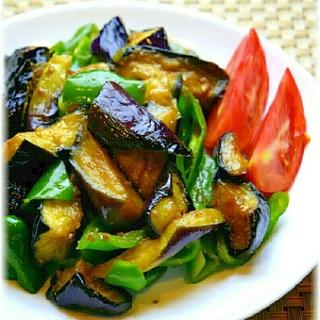 焼き肉のタレで簡単☆茄子とピーマンの炒め物