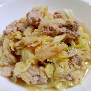 シリコンスチーマーで☆挽き肉と白菜の蒸し煮