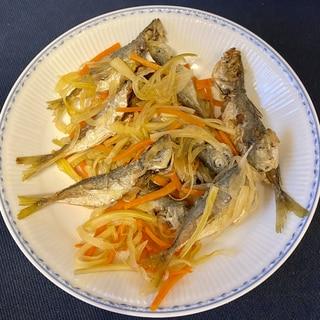 豆アジと千切り野菜のイタリアン風南蛮漬け