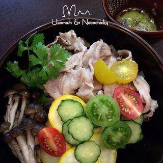 夏野菜たっぷり『豚肉の冷しゃぶ』