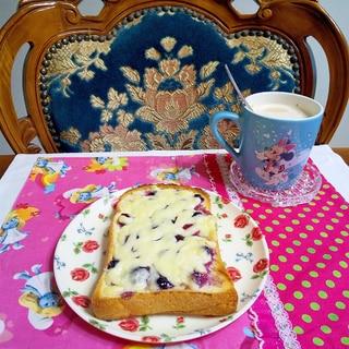 ブルーベリーチーズトースト