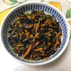 【夫婦のおつまみ】枝豆とちくわのひじきの煮物