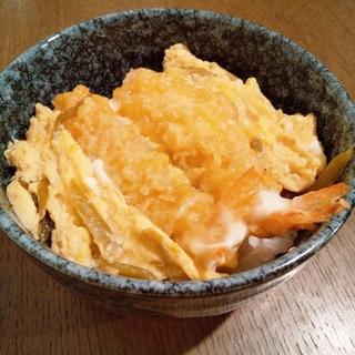 卵とじ海老天丼