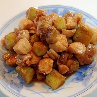 焼肉のたれで 鶏肉と茄子炒め