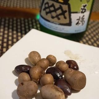 イージースモーカーで、むかごと枝豆の燻製
