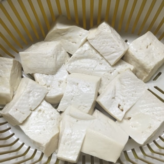 ゴーヤチャンプルー用 豆腐の水切り