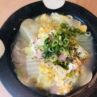 韓国風温麺