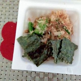 素朴♩海苔れん草めんつゆ納豆