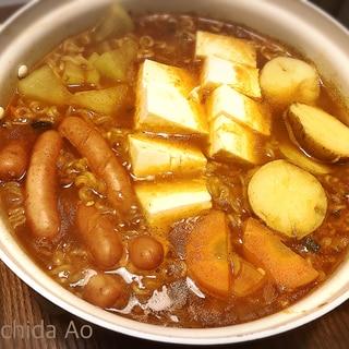 辛い物好きな方にはたまらない!辛ラーメンカレー鍋