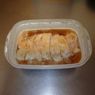 ジッパー袋で簡単鶏ハム(醤油味)