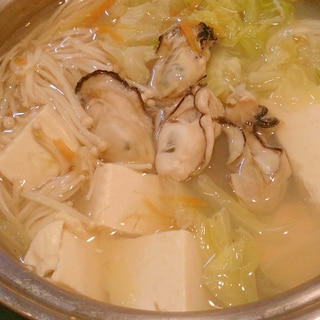 牡蠣の中華スープ鍋