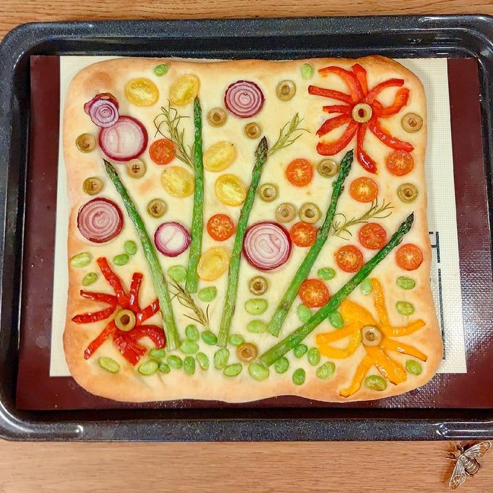 冷凍野菜で☆フラワーフォカッチャ
