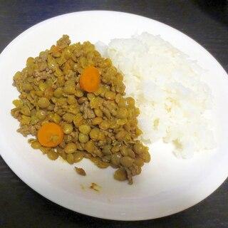 れんず豆とひき肉のカレー