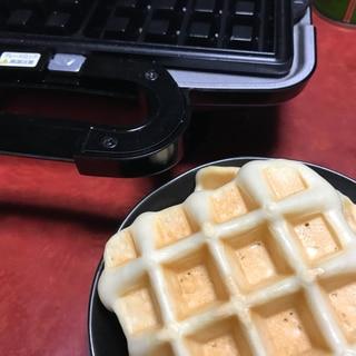 ベルギー風ワッフル☆小麦粉なし!卵なし!牛乳なし!